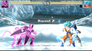 Thumbnail for Vegeta (SSB), Goku (SSB Kaioken) vs Dark Frieza, Dark Cell