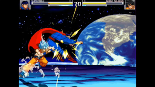 Thumbnail for Superman (New 52) vs Goku (Super Saiyan Blue) - MUGEN (Gameplay) S1 • E5