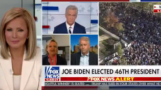 Thumbnail for Fox News anchor doesn't realize she's live on air when a guest refuses to admit Joe Biden won the presidency