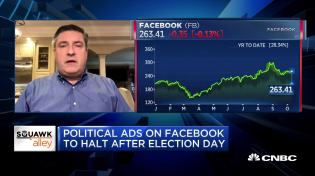 Thumbnail for Facebook former chief privacy officer on decision to halt post-election ads