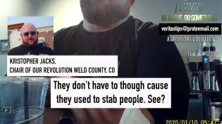 "Thumbnail for Our Revolution Chair and Colorado Dem Party Exec ""It's truly killing random Nazis in the street"""