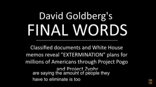 Thumbnail for David Goldberg's Final Words