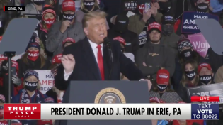"Thumbnail for Trump says 'normal life will finally resume' if he wins reelection-""...next year will be the greatest economic year in the history of our country."""